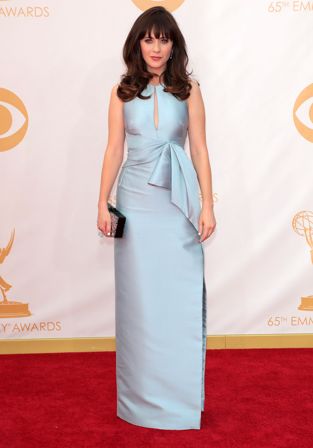Zooey Deschanel, 65th Annual Primetime Emmy Awards held at Nokia Theatre L.A. Live, 22 September 2013