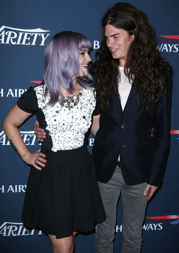 British Airways celebrates the Inaugural A380 Service, Los Angeles, America - 25 Sep 2013 Kelly Osbourne and Matthew Mosshart