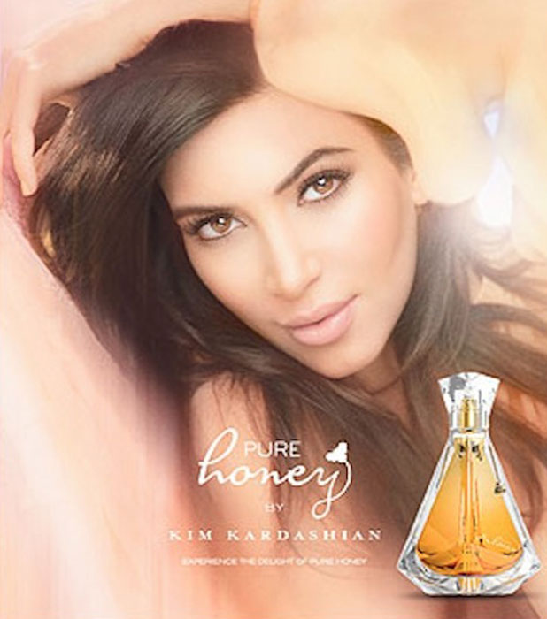 Kim Kardashian's campaign for Pure Honey, her sixth fragrance, September 2013