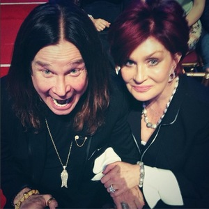 Ozzy Osbourne and Sharon Osbourne in the audience at Dancing With The Stars.