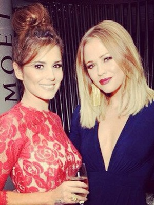 Cheryl Cole and Kimberley Walsh pose at Kimberley's book launch, A Whole Lot of History, Hotel ME, London, 23 September 2013