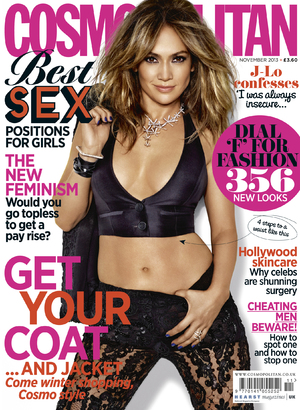 Cosmopolitan November cover - Jennifer Lopez.