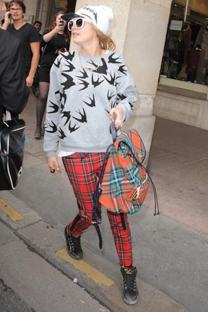 Model Cara Delevingne seen out during Paris Fashion Week Cara Delevingne - 1.10.2013