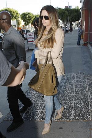 Khloe Kardashian and Kylie Jenner shopping at Kitson clothing store on Robertson Avenue Clothing Store - 2.10.2013