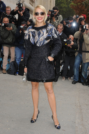 Chanel fashion show, Paris, France Rita Ora and Cara Delevingne 1 Oct 2013