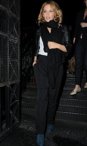 The Voice Judges arrive at the Smoke Grill In Manchester for a meal before filming commences Tuesday - 30.9.2013 Kylie Minogue
