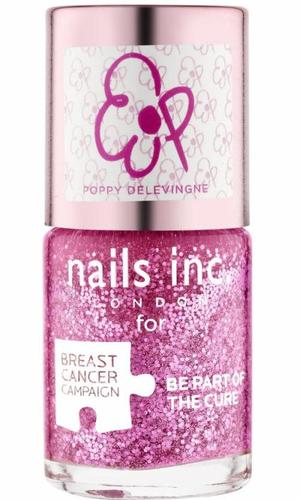 Nails Inc Pinkie Pink Polish by Poppy Delevingne for Breast Cancer Awareness Month 2013