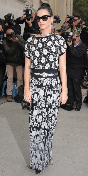 Katy Perry at Paris Fashion Week Spring/Summer 2014 Chanel catwalk show - 1 October