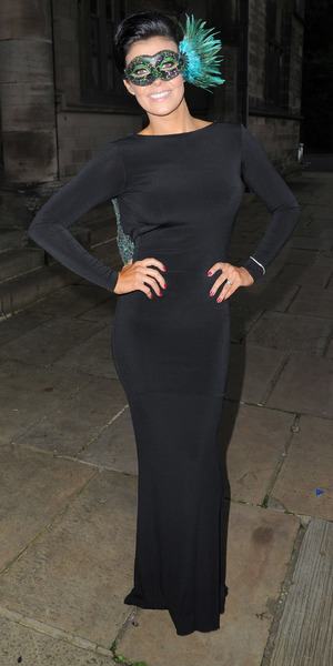 Kym Lomas attends Rochdale's Masquerade Ball fundraiser, with proceeds being shared between Springhill Hospice and the domestic violence charitable organisation, Women's Housing Action Group, October 05 2013