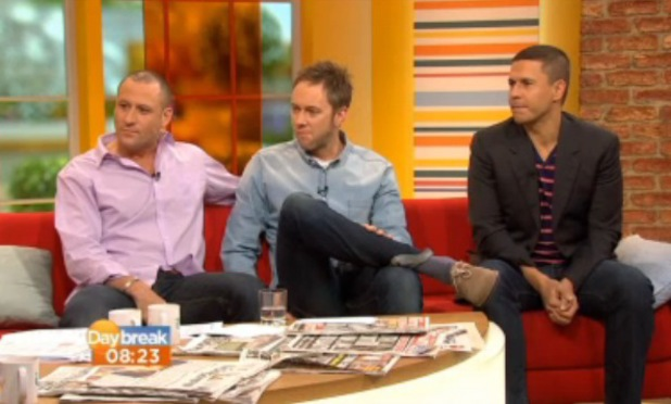 Nick Pickard, James Redmond, Jeremy Edwards chat about reuniting for Hollyoaks Later on Daybreak - 4 October 2013