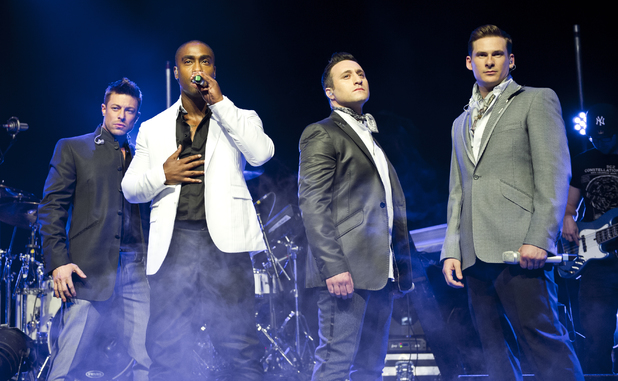 Blue performing live at the Shepherds Bush Empire Person In Image:Blue, Lee Ryan, Simon Webbe, Duncan James, Antony Costa Credit :Carsten Windhorst/WENN.com Date Created : 05/03/2013 Location : London, United Kingdom