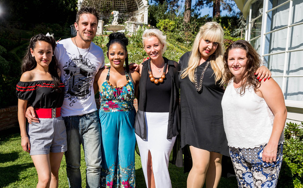 The X Factor Overs 2013 at bootcamp: Andrea Magee, Shelley Smith, Sam Bailey, Zoe Devlin, Joseph Whelan, Lorna Simpson