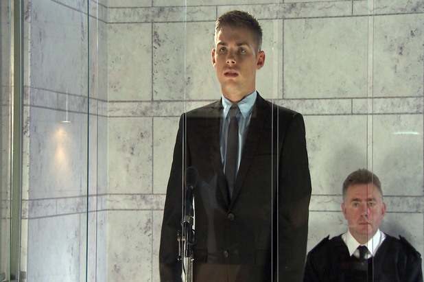 Hollyoaks, Ste in court, Tue 1 Oct
