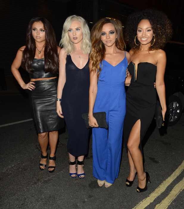Leigh-Anne Pinnock celebrates her birthday at 55 Oxford Street with Little Mix bandmates Jade Thirlwall, Jesy Nelson and Perrie Edwards, October 4 2013