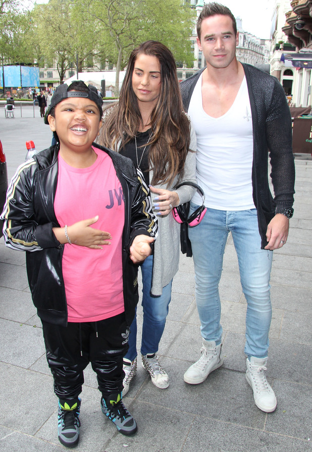 Katie Price, Kieran Hayler, Harvey Price at Premiere of 'Epic' at Vue Cinema West End in Leicester Square - Outside Arrivals - 12 May 2013