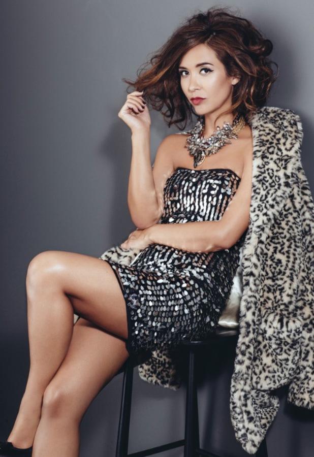 Myleene Klass models her new A/W '13 mid-season range for Littlewoods