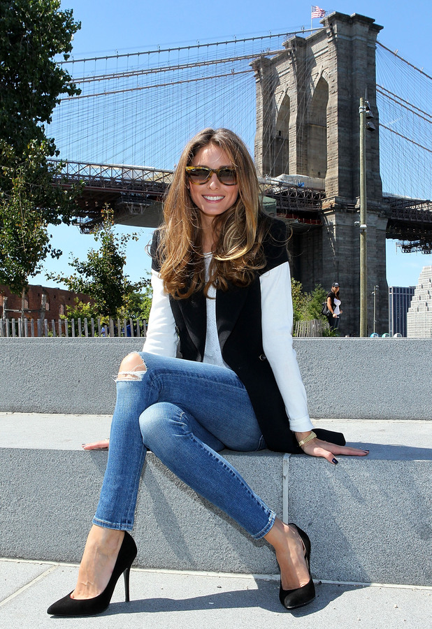 Olivia Palermo at New York Fashion Week, hair styled by Mark Hill - September 2013