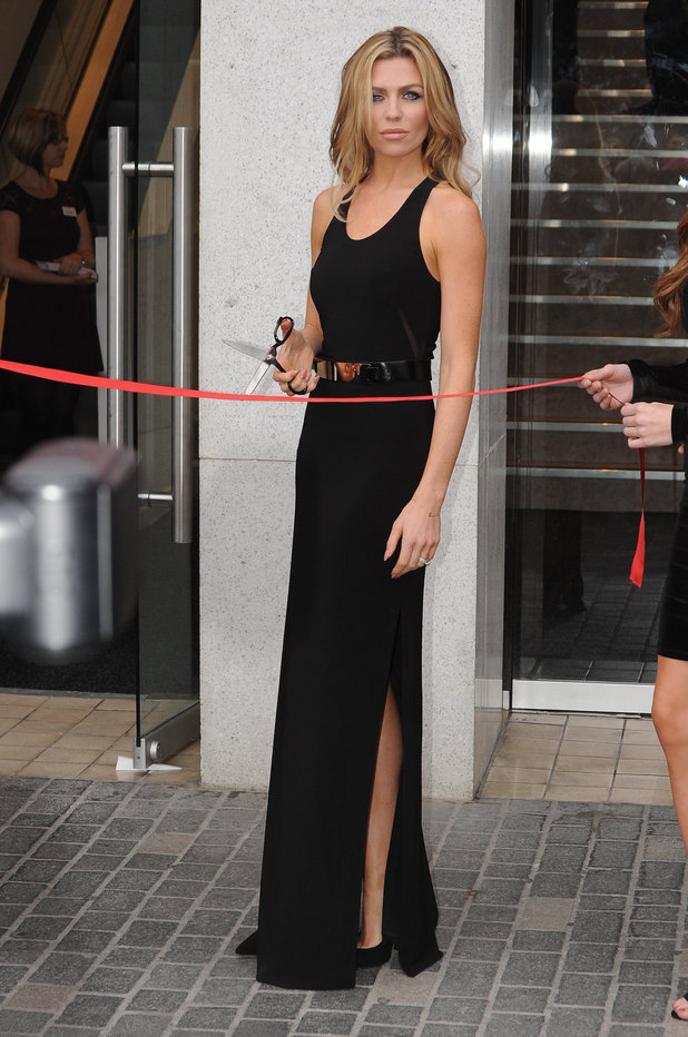 Abbey Clancy cuts the ribbon at the new Matalan store in Liverpool - 2.10.2013