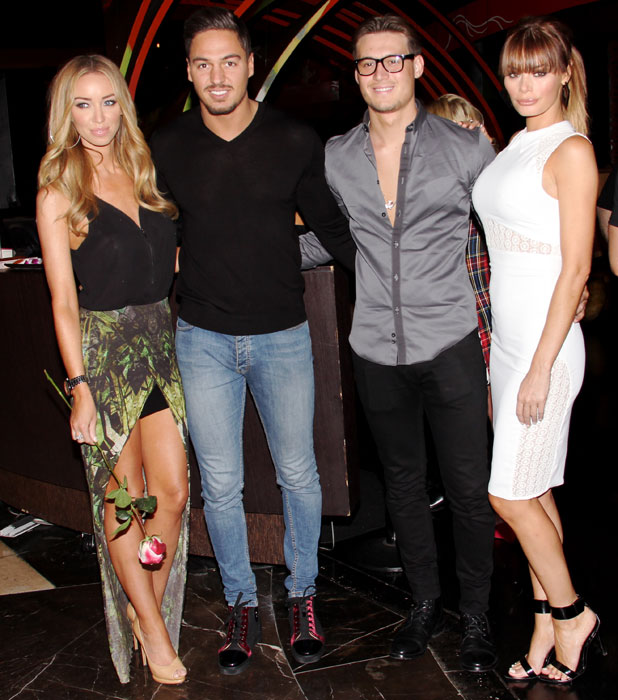 Lauren Pope, Mario Falcone, Chloe Sims, and Charlie Sims go out to dinner for Sushi at Sushi Samba, 29 September 2013
