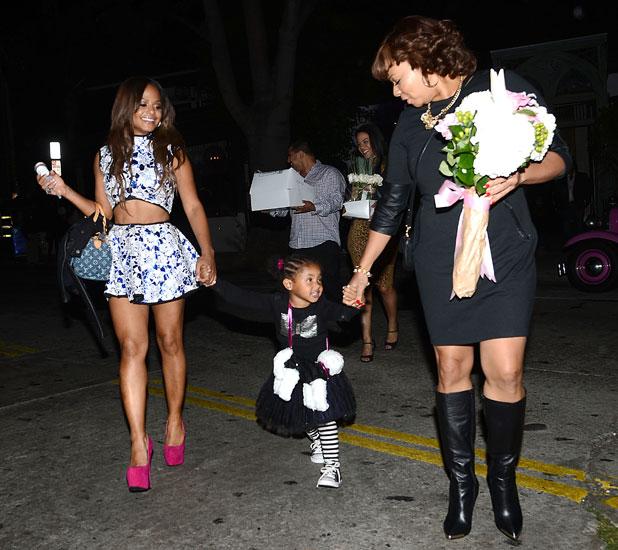 Christina Milian Celebrates her Moms Birthday With Violet at Sur Lounge, 3 October 2013