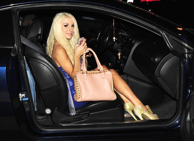 Courtney Stodden at Bootsy Bellows nightclub, Los Angeles, America - 28 Sep 2013