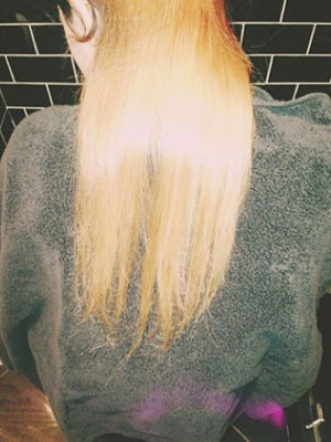 Kylie Jenner dyes her hair blonde, Instagram, 30 September 2013