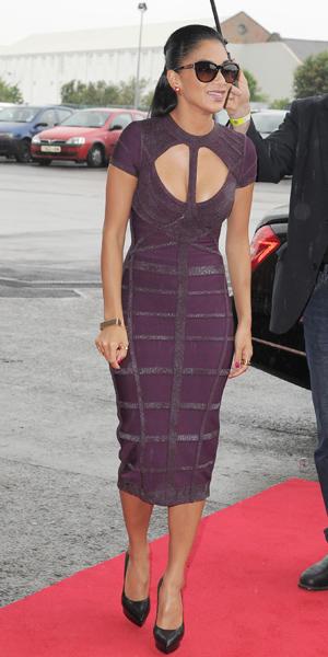 Nicole Scherzinger at X Factor auditions on 14 June 2013