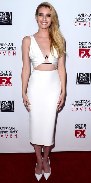 Emma Roberts at the 'American Horror Story Coven' TV series premiere, Los Angeles, America - 05 Oct 2013