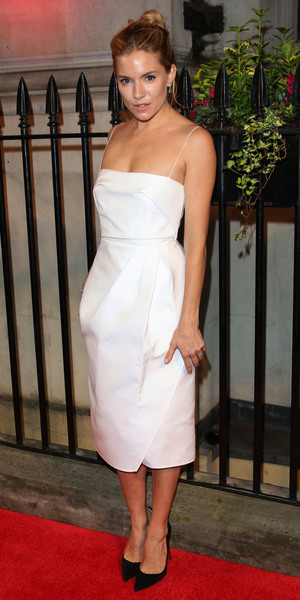 Sienna Miller at the The BFI gala dinner and auction held at 8 Northumberland Avenue, London - 8 October 2013