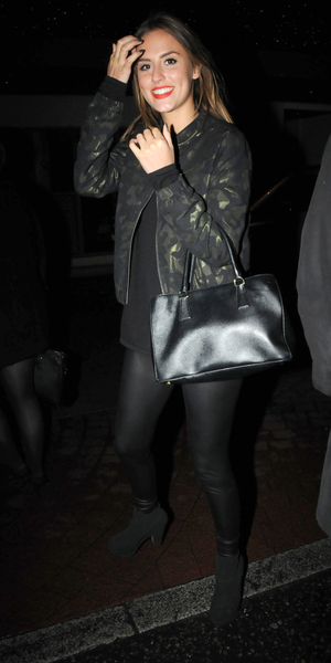 The cast of Made In Chelsea leave the Soho Hotel after attending a screening of the first episode of the new sixth series of the reality show, set to air in the UK on Monday 14 October 2013