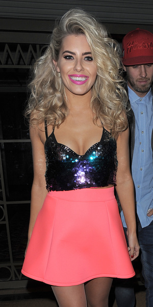 The Saturdays leaving their hotel and heading to G.A.Y for their performance, October 12 2013