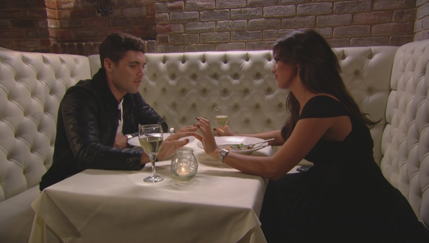 Lucy Mecklenburgh holds hands with Tom Pearce on a romantic date in TOWIE