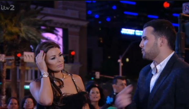 TOWIE's Jessica Wright and Ricky Rayment argue in Las Vegas - 7 October 2013