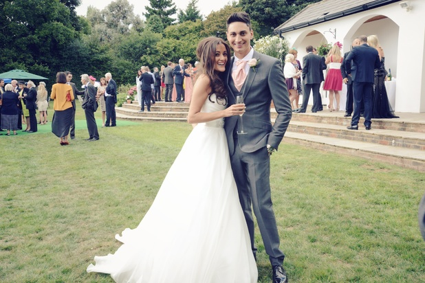 The Apprentice's Natalie Panayi and husband Oliver on their wedding day - September 2013