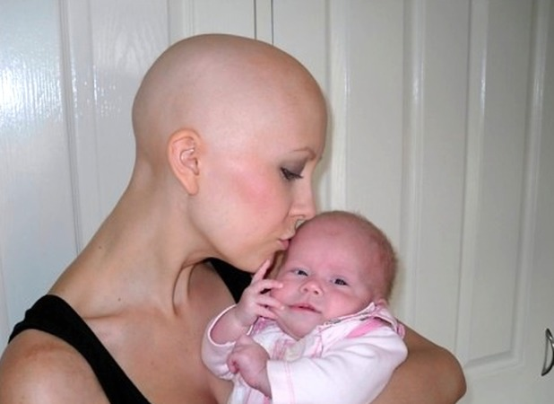 Gemma started chemo nine days after Gracie was born