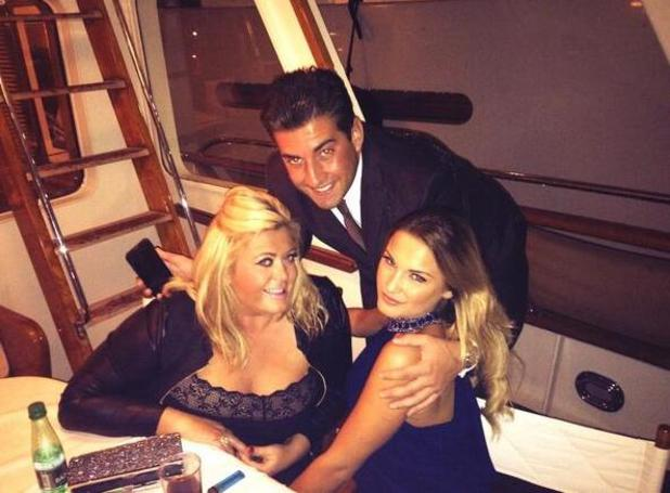 TOWIE's James 'Arg' Argent, Sam Faiers and Gemma Collins in Cannes (7 October)