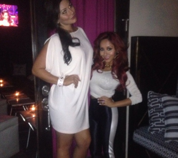 Snooki and JWoww backstage at Dancing With The Stars - 8 October 2013