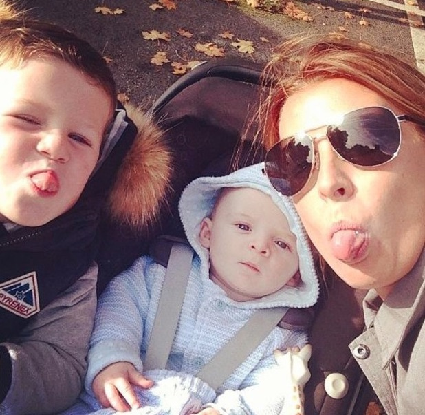 Coleen Rooney takes Kai and Klay to the park - 5 October 2013