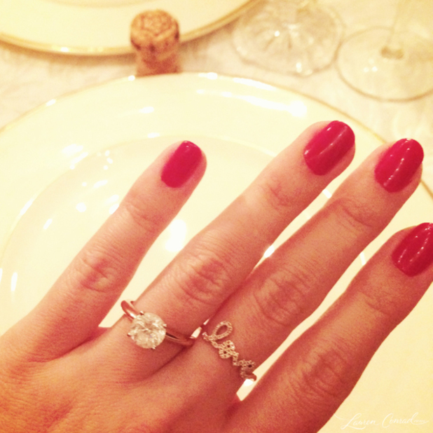 Lauren Conrad announces engagement on her official website, Oct 13 2013