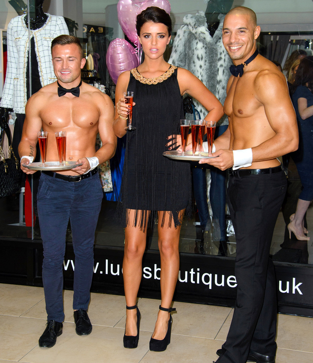 Lucy Mecklenburgh at the opening of Lucy's Boutique in Southend, Essex, 12 October 2013