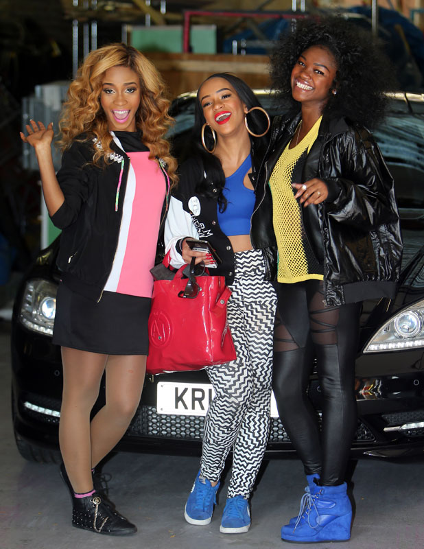 Miss Dynamix, Jeanette Akua, Sese Foster, Rielle Carrington at ITV studios 8 Oct 2013