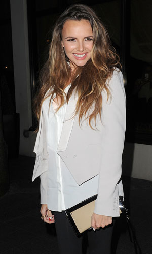 Nadine Coyle leaving Nordoff Robbins Boxing Dinner in Lancaster Hotel, 8 October 2013