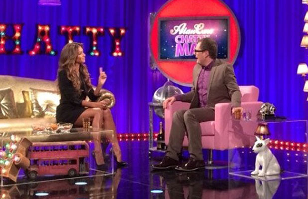 Nicole Scherzinger appears on Alan Carr's Chatty Man, 11 October 2013