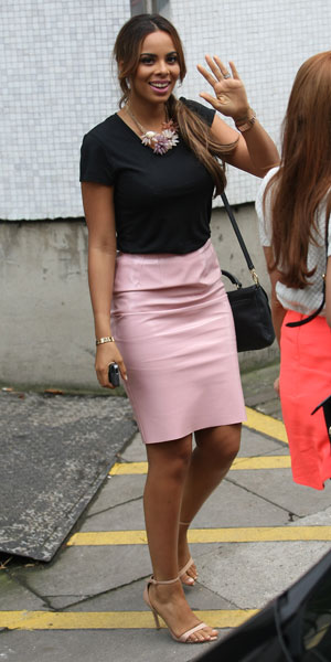 Rochelle Humes at ITV studios, 7 October 2013