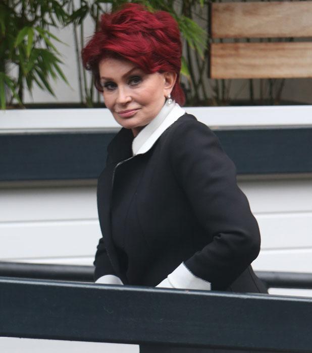 Sharon Osbourne outside the ITV studios, 7 October 2013