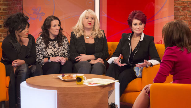 Lorna Simpson, Sam Bailey and Shelley Smith with Sharon Osbourne and Lorraine Kelly 7 Oct 2013