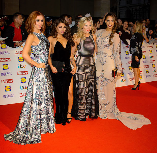 The Saturdays at the Pride of Britain Awards, 7 October 2013