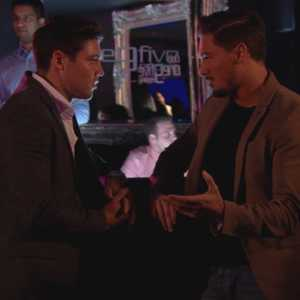 TOWIE episode (Wednesday 16th October 2013) Tom Pearce and Mario Falcone bump into each other