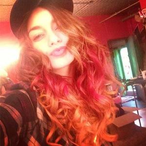Vanessa Hudgens new autumn hair Instagram October 2013