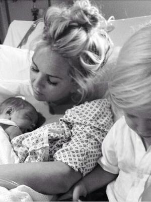 Jennifer Ellison with baby Harry and son Bobby - 14.10.2013